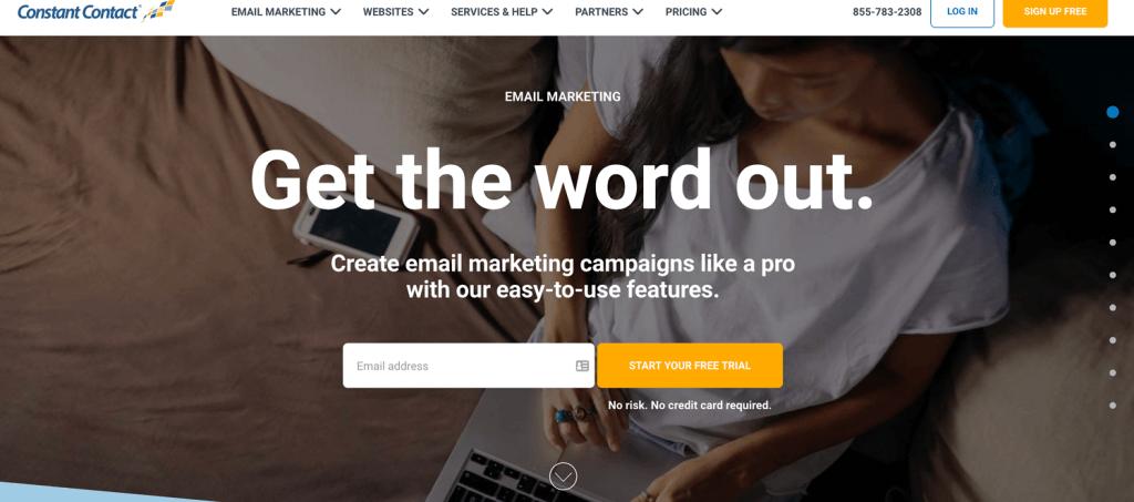 инструмент за имейл маркетинг Constant Contact