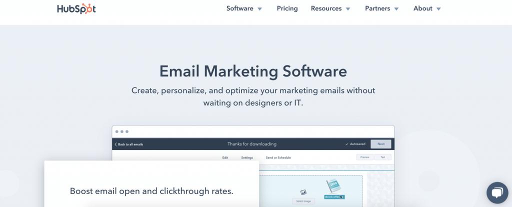 инструмент за имейл маркетинг HubSpot Email Marketing Software