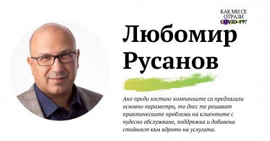 Как ми се отрази COVID-19: Любомир Русанов от СуперХостинг.БГ