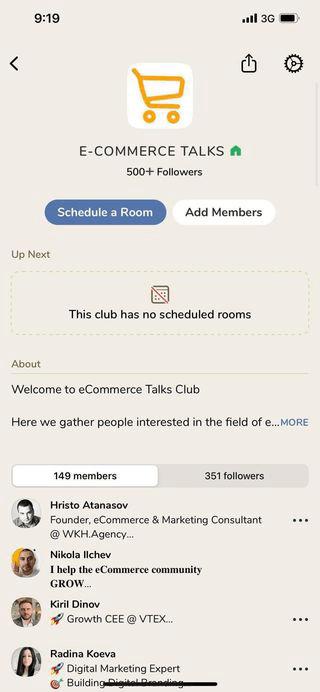 E-COMMERCE TALKS в Clubhouse България